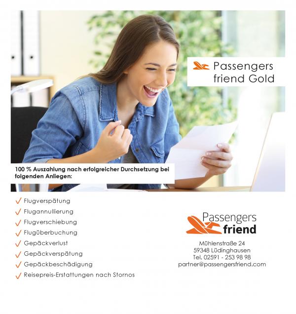 Ihre Vorteile mit Passengers friend Gold